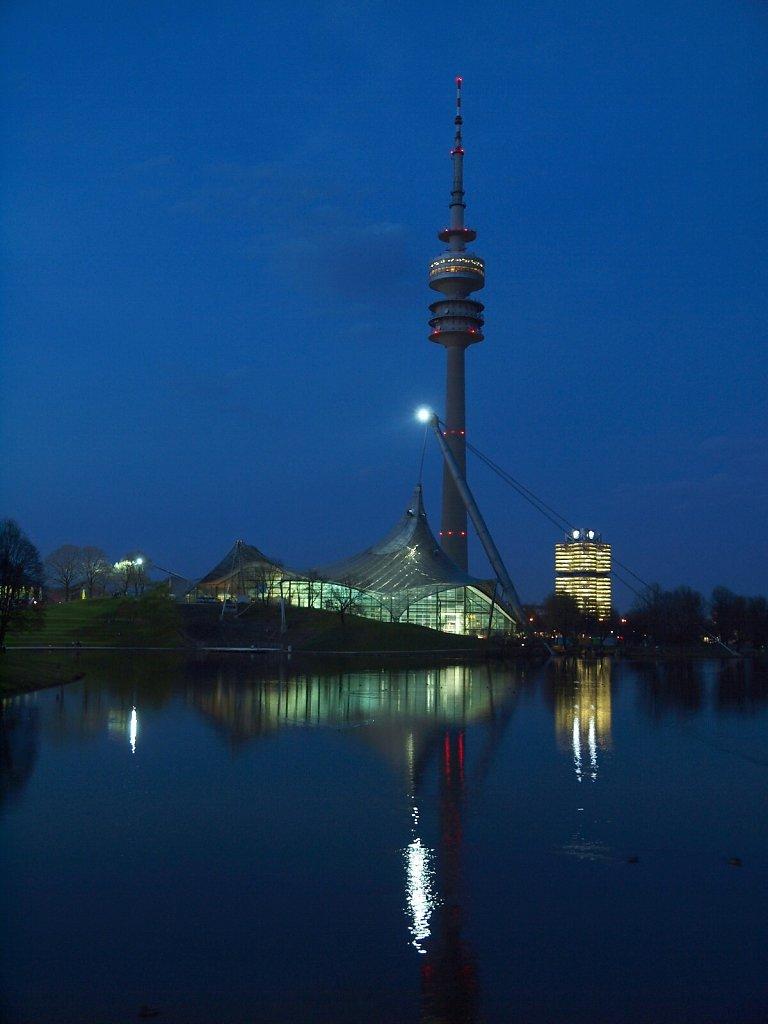 Olympia Park at night