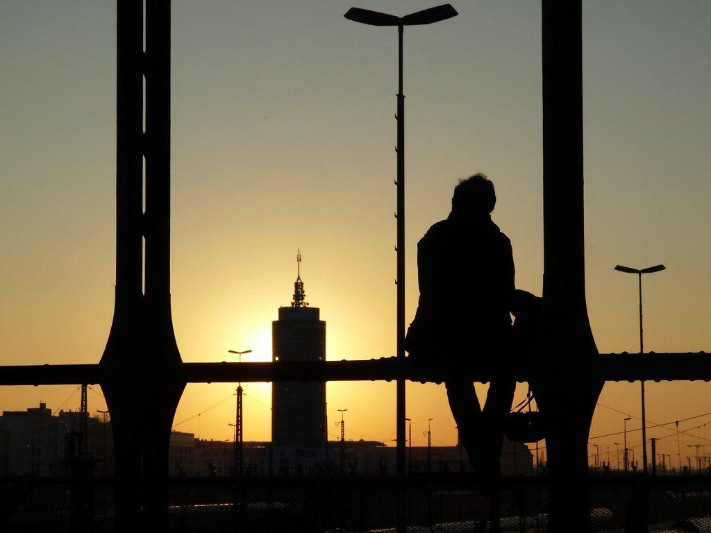 Enjoying the Sunset at Hackerbrücke