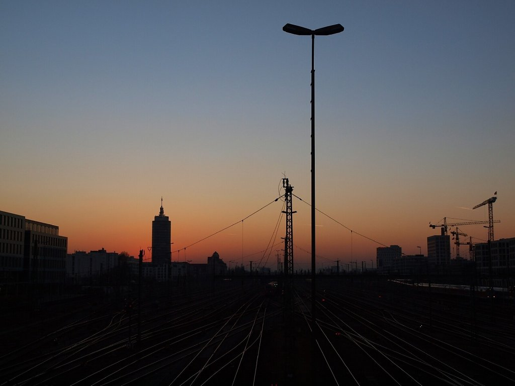 View from Hackerbrücke at sunset