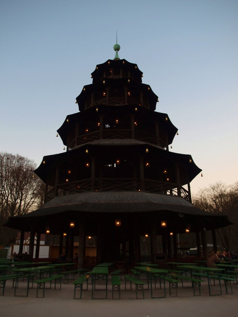 Chinese Tower at Sunset
