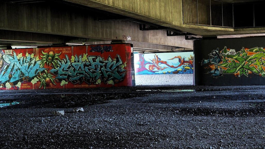 Modern Art at Brudermühlbrücke