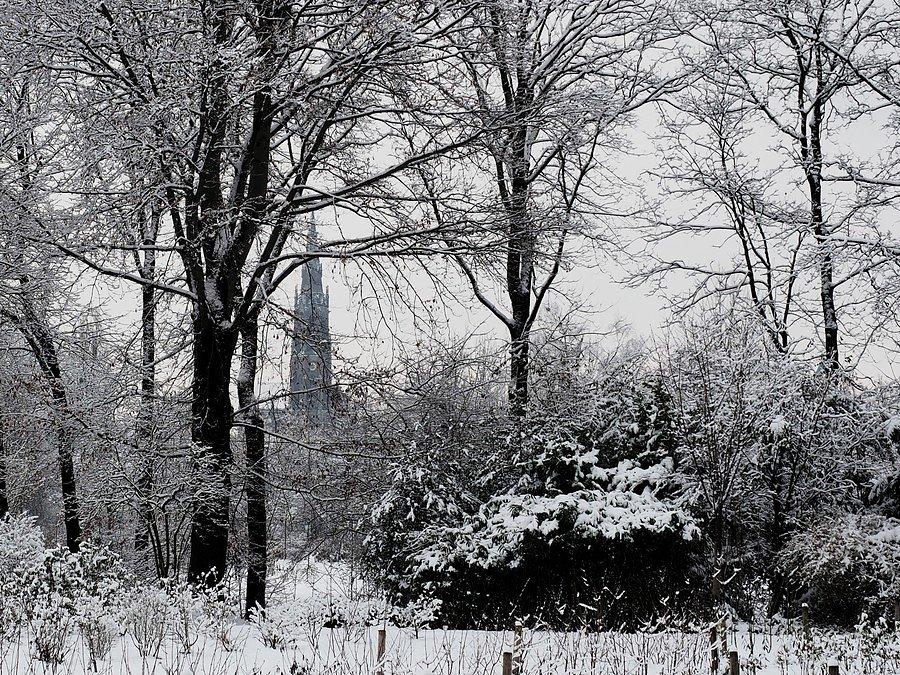 View on Heilig-Kreuz-Kirche (Giesing) from Rosengarten